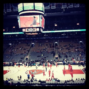 Raptors vs. Pistons action